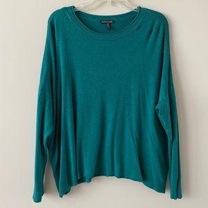 Eileen Fischer teal sweater